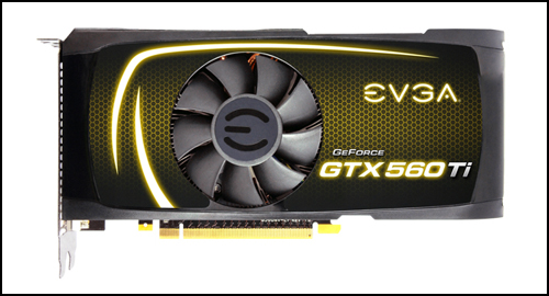 EVGA GeForce GTX 560 Ti FPB top