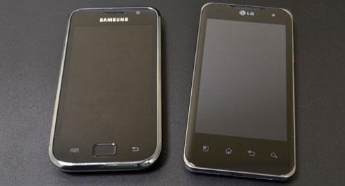 LG Optimus 2X P990 and Samsung Galaxy S compare