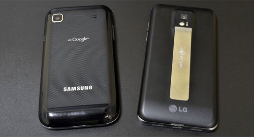 LG Optimus 2X P990 and Samsung Galaxy S compare