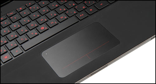 HP Envy Beats keyboard touchpad