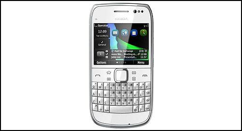 Nokia E6 white