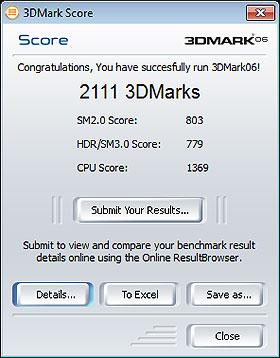 3D Mark Score Samsung 900x