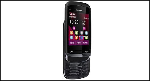 Nokia C2-02, C2-03, C2-06 black