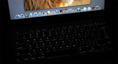 13,3 Apple MacBook Air 2011 keyboard backlight