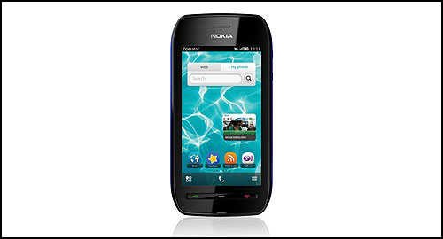 Nokia 603 black-blue front