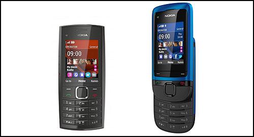Nokia C2-05 and Nokia X2-05