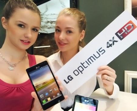 LG смартфон с четырьмя ядрами