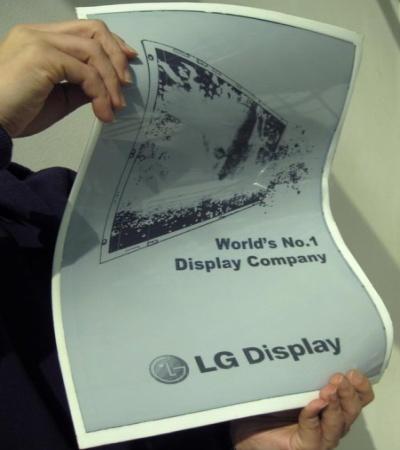 Компания LG приступила к изготовлению пластиковых экранов