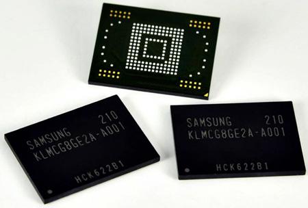Высокоскоростной памятью eMMC для мобильных устройств производить начали Sаmsung