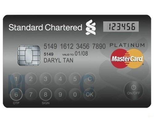 Банковская карта с дисплеем и клавиатурой
